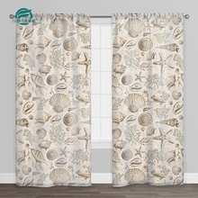 2018 100% polyester linen sheer professional curtains from China supplier