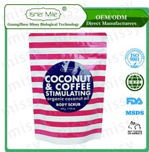 [MISSY] OEM/ODM Private Label Cell Repairing Organic Coconut Oil and Coffee Body Scrub