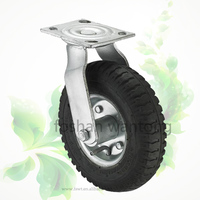 Heavy Duty Top Plate Swivel Rubber 6