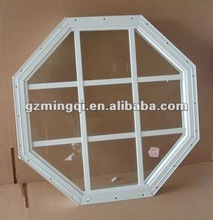 PVC octagonal fixed glass windows