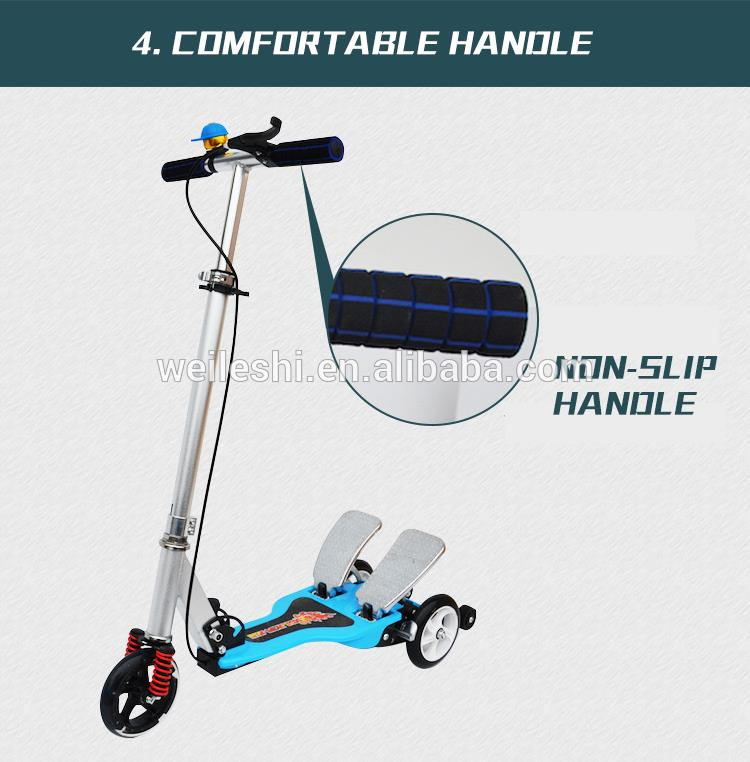 Hot selling big wheels kids pedal kick scooter three wheel kick scooter with great price