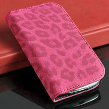hot selling leopard leather case for samsung galaxy s3 mini