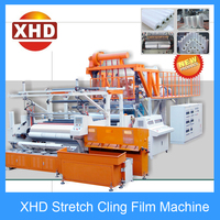 Automatic automatic grade and casting type stretch film hand/machine roll extruder machine