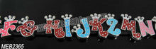 8mm DIY crystal alphabet letter for bracelet