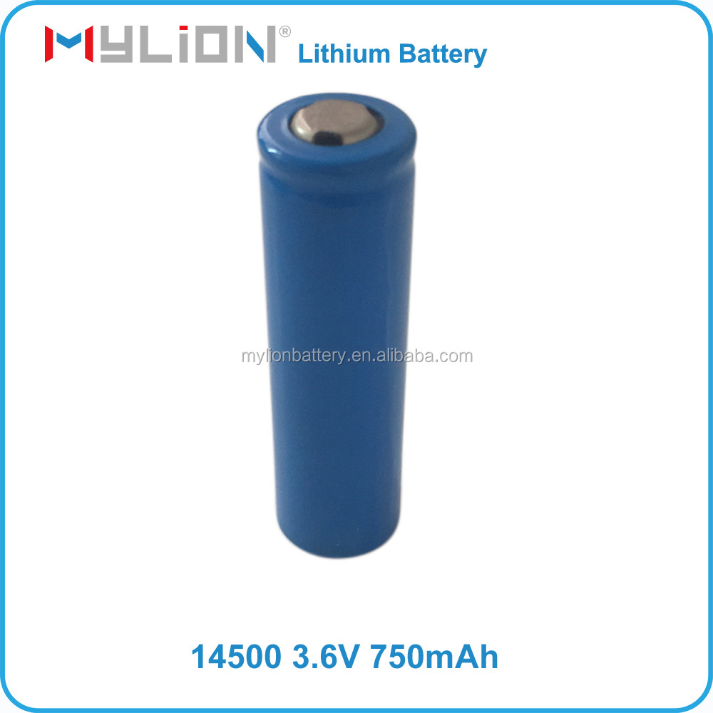 Small Size Rechargeable Lithium Battery For RC Toy or 3C Products 14500 750mah 3.6V From China Factory