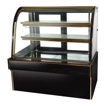 Bakery display cake refrigerated cabinet with marble base