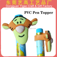Factory Directly wholesale soft PVC kids pen topper, animal pencil topper