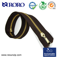 Guangdong zipper factory high quallity smooth and durable closed end metal zipper for leather boots