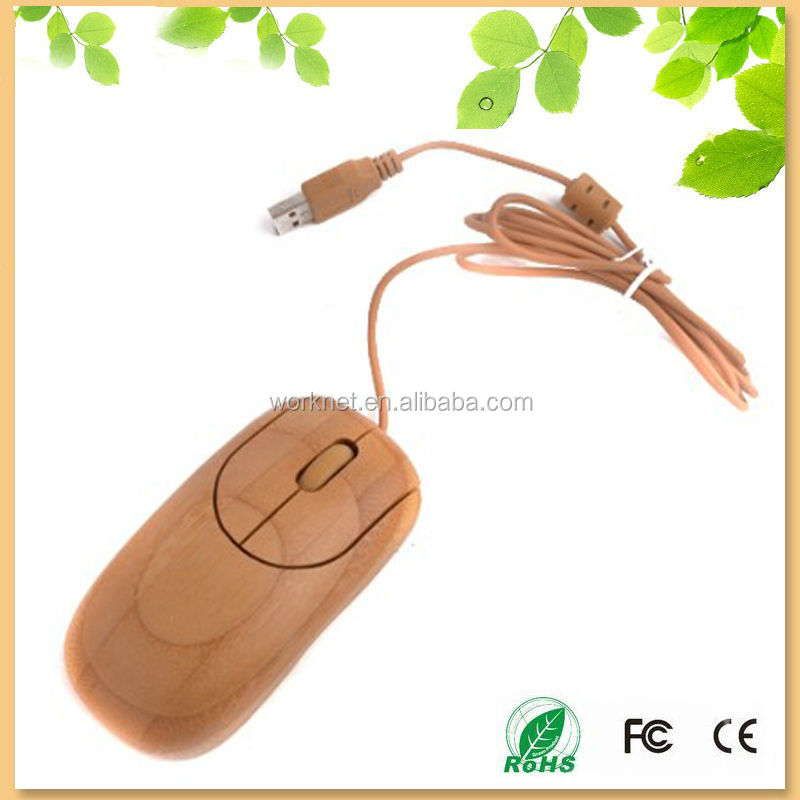 Shenzhen factory direct offer wired wooden optical mouse