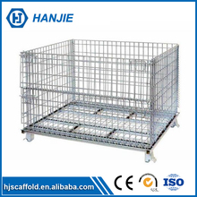 HANJIE factory heavy duty cargo storage metal wire mesh cage
