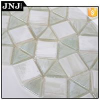 Bathroom Decoration Triangle Broken Mosaic Tiles Crystal Glass