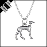 Women fashion jewelry custom alloy silver pet dog changeable pendant necklace