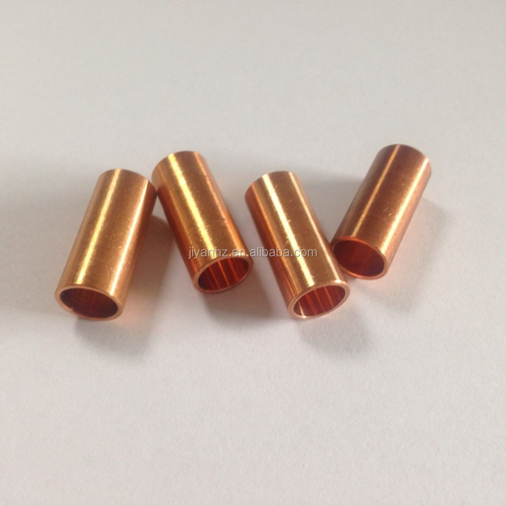 High polished custom made copper/beryllium copper pipe cnc machining parts China