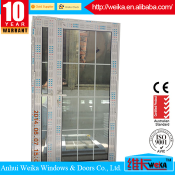 Durable China Top Brand PVC / UPVC French Window Grill Design