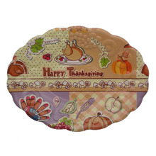 thanksgiving plastic material plastic trays fast food serving tray