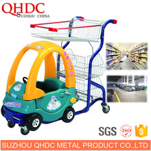 Suzhou QHDC sale shopping cart toy supermarket trolley baby car