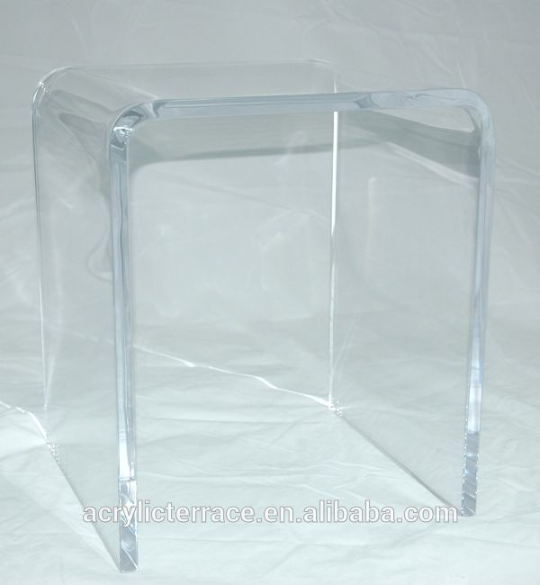 "3/4"" Thick Clear Acrylic Shower Bench or Stool"