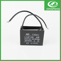 High quality ceiling fan wiring diagram capacitor with 2 wires cbb61 1.5uf 400v