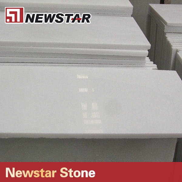 Newstar polished chinese white marble tile for bathroom flooring