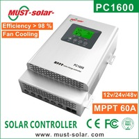 PC1600 Series 98% Efficiency MPPT 45A/60A 12v 24v 48v Solar Charge Controller