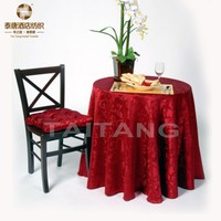 2015 Hot Sale polyester fancy jacquard table cover laminated table cloth