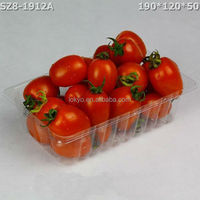 Disposiable rectangular cheap plastic fruit tray