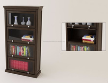 2225.1a classical style handle glass door wooden bookcase furniture