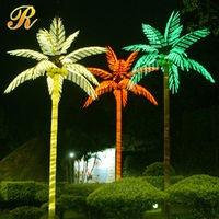 outside led electric lighted decoration christmas palm tree