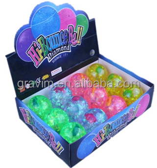 55mm Light-up stripe Fish Water Bouncy Ball