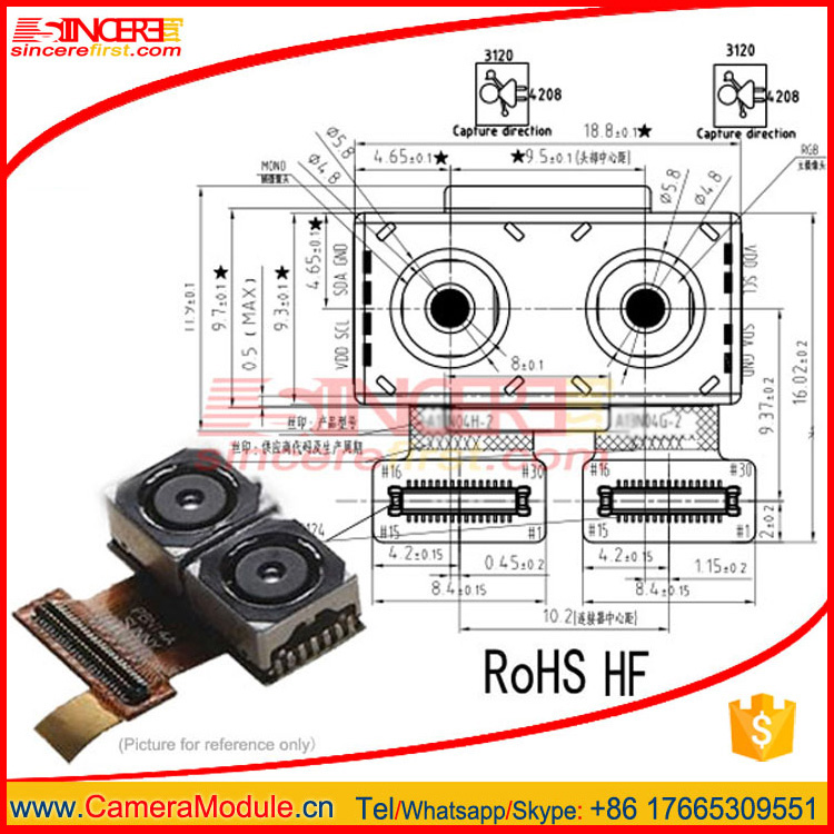 Successful Project dual lens camera module In HuaWei Leica double Camera mobile phone