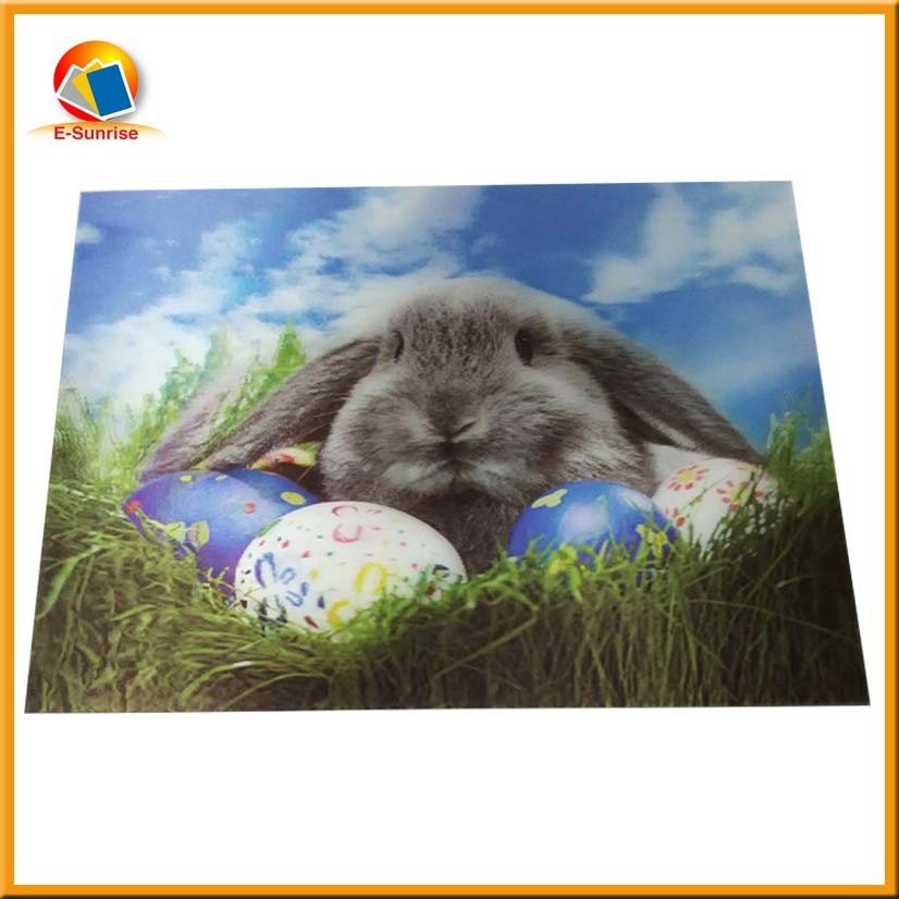 2017 Newest design customize 3D Lenticular printing postcard for wedding invitations for promotion