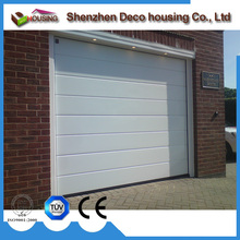 Economic and Reliable stainless steel insulated garage door single sheet sectional side lock for