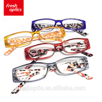 Wholesale fashionable clear colored plastic frame reading glasses for sale