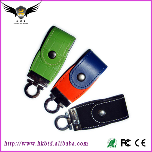 Wholesale Leather usb Flash Drive Fur Key Chain Pendrives 8gb 32gb Commercial Memory Stick 4gb 16gb Gift usb Creative