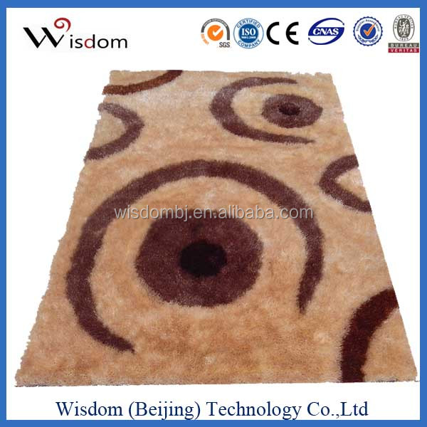 Excellent polyester shaggy silk rugs