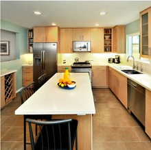 Hot sale American modern designs solid wood kitchen cabinet