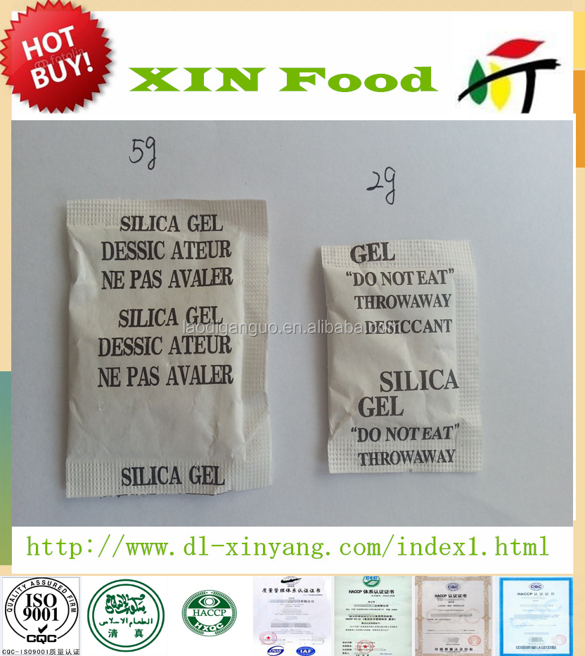 3/5/10 Gram Silica Gel Desiccant Packets for food/cloth/leather