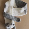 Lovely White And Grey Cat Scarf