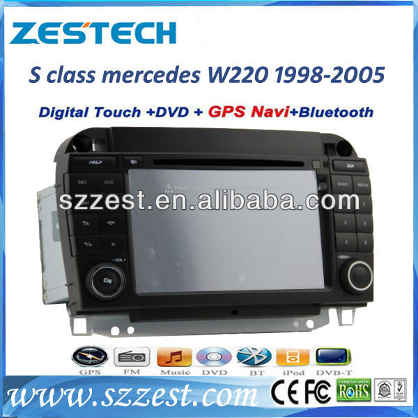 ZESTECH Car dvd for Benz S W220 (1999-2006) Benz CL-W215 (1998-2005) with ipod control phone book built in gps