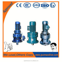 High strength compact dimension XB series reduction gearbox with electric motor