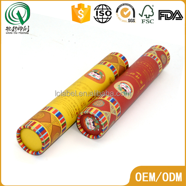 Mailing used paper tube printed sketch packed paper tube drawings shipping round box