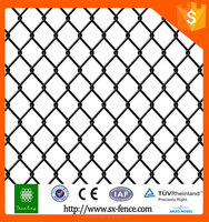 China supplier galvanized chain link wire mesh/black powder coated chain link fencing