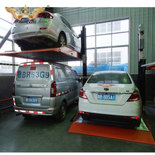 2.3t 2300kg car parking pole for 2 cars