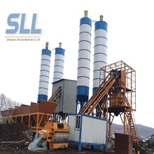 HZS90 belt type stationary concrete mixing plant for large scale elevator plant