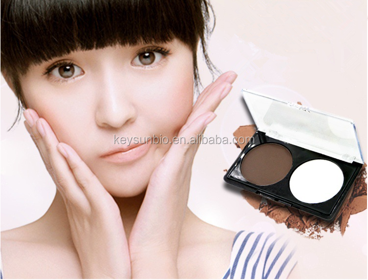 wholesale 2 Color Highlighter Makeup & Bronzer Dark/White Face Powder