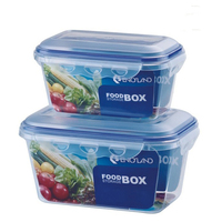 900ml+1800ml Leakproof Air Tight Container Plastic with Locking Lid China Supplier