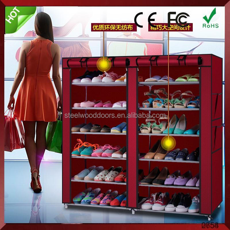 2015 Large waterproof cheap shoe racks folding pull out shoe rack