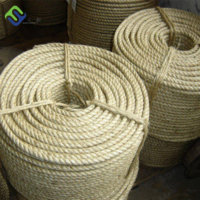 24mm Nature fiber material and twist sisal rope for marine