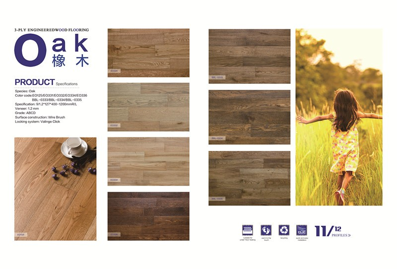 High Quality Select Engineered Oak Chevron Wood Flooring