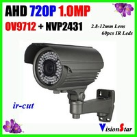 Analog 1.0MP AHD 720P waterproof zoom 2.8-12mm lens ir-cut better quality image outdoor hidden camera with low price